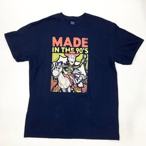 Disney Mens Toy Story Made in The '90s T-Shirt L
